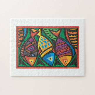 Abstract Fish Art Design Jigsaw Puzzle