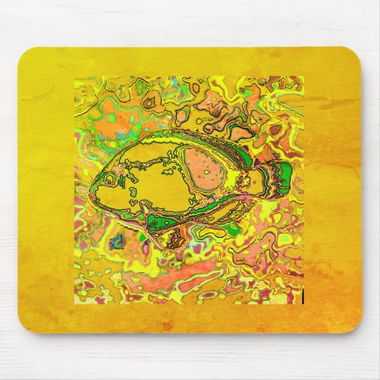 Abstract_Fish_Art_II_Multi-Colours-Unisex Mouse Mat