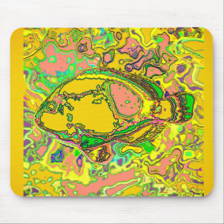 Abstract_Fish_Art_Multi-Colors-Unisex Mouse Mat