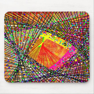 Abstract Fish in the Brown Back Ground #2 Mouse Pad