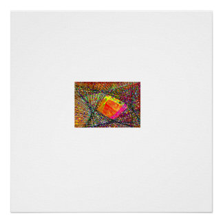 Abstract Fish in the Brown netting 21 Poster