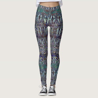 Abstract Fish Pattern Leggings