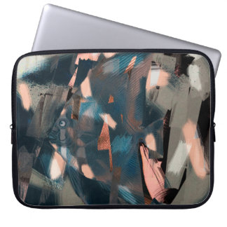 Abstract Fish with Overbite Laptop Computer Sleeves