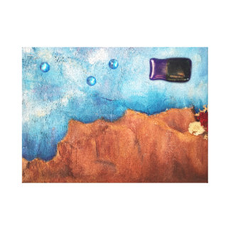 Abstract Fish World Desert Texture Painting Canvas Print