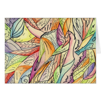 ABSTRACT FLIGHT note card