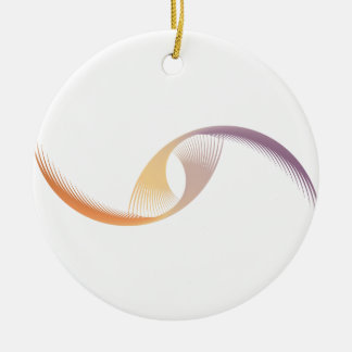 Abstract Flight Round Ceramic Decoration