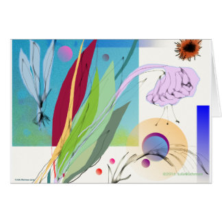 Abstract Floral Arrangement Greeting Card