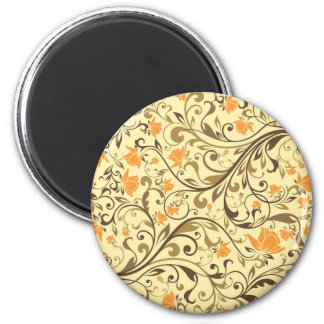 abstract floral art pattern vo3 6 cm round magnet