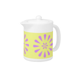Abstract Floral Art Tea Pot