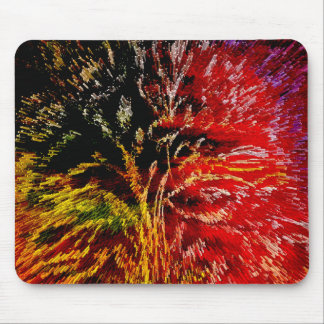 Abstract Floral Artwork Mousepad
