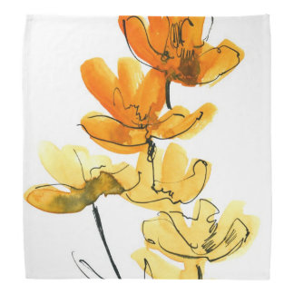 Abstract floral background bandana