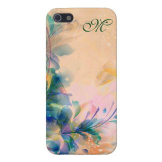 Abstract Floral Background Blue And Beige iPhone 5/5S Cover