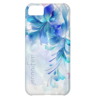 Abstract Floral Background Blue And White Monogram iPhone 5C Case