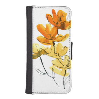 Abstract floral background iPhone SE/5/5s wallet case