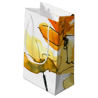 Abstract floral background small gift bag