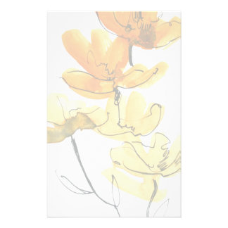 Abstract floral background stationery
