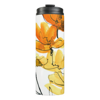 Abstract floral background thermal tumbler