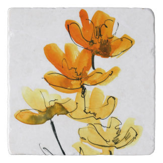 Abstract floral background trivet
