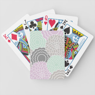 Abstract Floral Bicycle Playing Cards