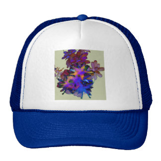 Abstract Floral Mesh Hat