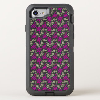 Abstract Floral Chevron Pattern OtterBox Defender iPhone 8/7 Case