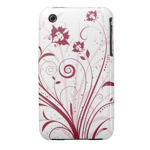 Abstract Floral Design Blackberry Curve case