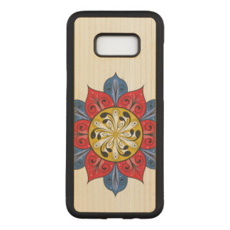Abstract Floral Design Carved Samsung Galaxy S8+ Case
