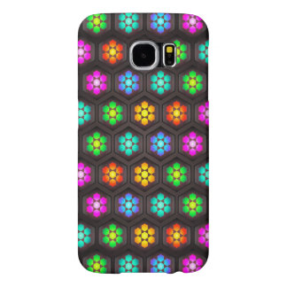 Abstract Floral Design Samsung Galaxy S6 Cases