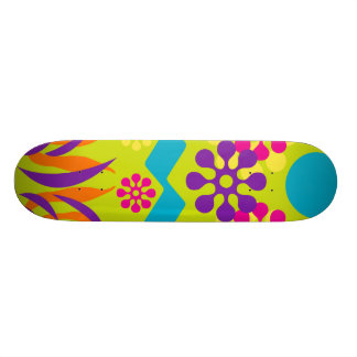 Abstract floral design skate board