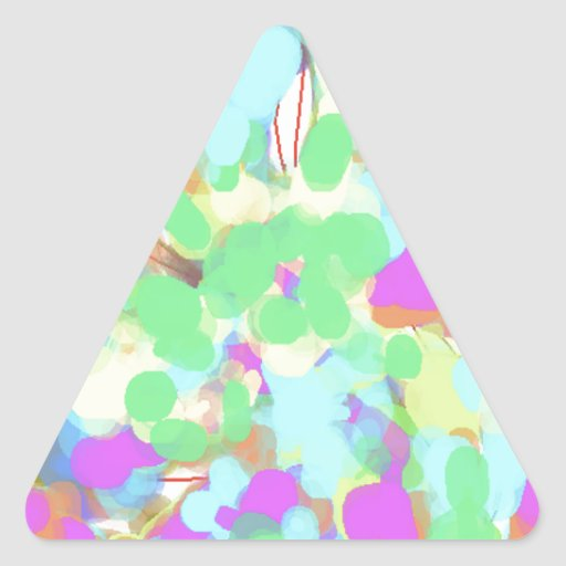 Abstract floral design triangle sticker