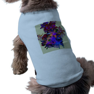 Abstract Floral Doggie T Shirt