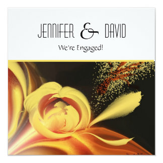 Abstract Floral Engagement Invitation