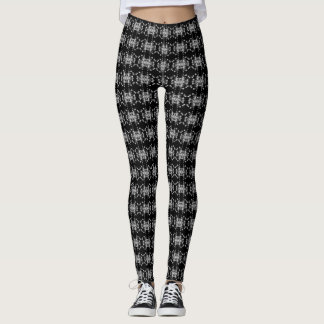 Abstract Floral Graphic Pattern Leggings