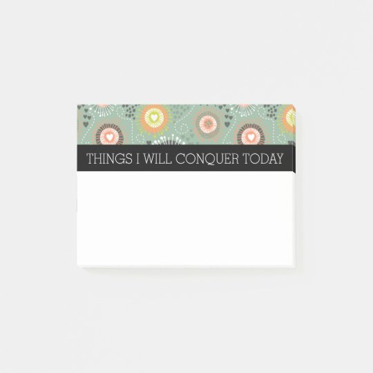 Abstract Floral & Hearts To Do List Post-it® Notes