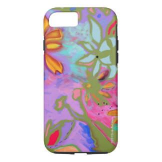 Abstract Floral Inspired iPhone 7 case Variation