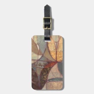 Abstract Floral Leaf Painting by Norman Wyatt Bag Tag