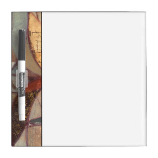 Abstract Floral Leaf Painting by Norman Wyatt Dry Erase Board