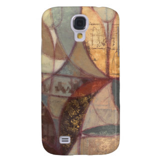 Abstract Floral Leaf Painting by Norman Wyatt Galaxy S4 Case