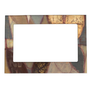 Abstract Floral Leaf Painting by Norman Wyatt Magnetic Frame