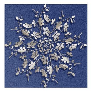 abstract floral mandala. acrylic print