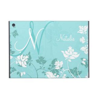 Abstract Floral Monogram Folio Case For iPad Mini