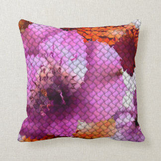 Abstract Floral Mosaic Pillow