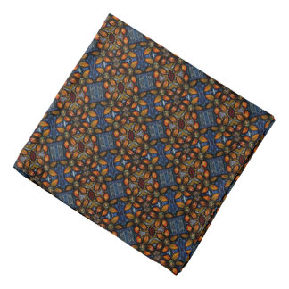 Abstract  Floral Pattern Bandana