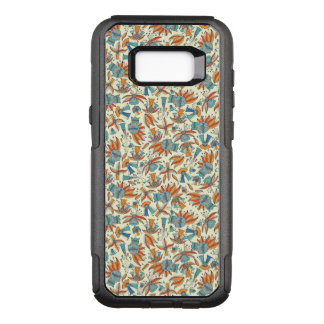Abstract floral pattern design OtterBox commuter samsung galaxy s8+ case