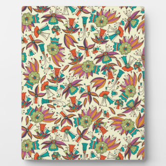 abstract floral pattern design plaque
