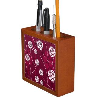 Abstract floral pattern desk organiser