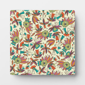 abstract floral pattern Easel design Plaque