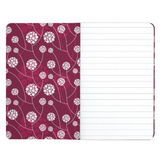 Abstract floral pattern journal