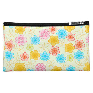 Abstract Floral Pattern Makeup Bag