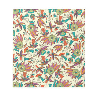 abstract floral pattern Notepad design